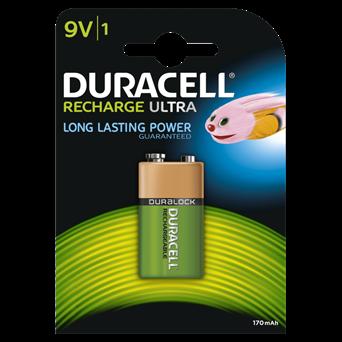 Duracell Rechargable Ultra 9v Battery 170mah 1s (DURHR22B1)